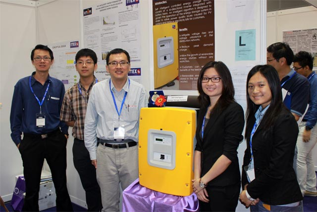 Chuah, Yong, Dr Lim, Wong and Khim Yan with their invention