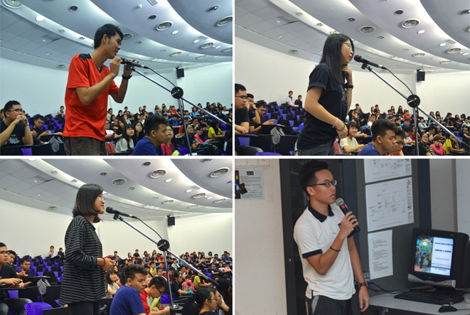 Participants asking interesting questions to Datuk Seri Kwok