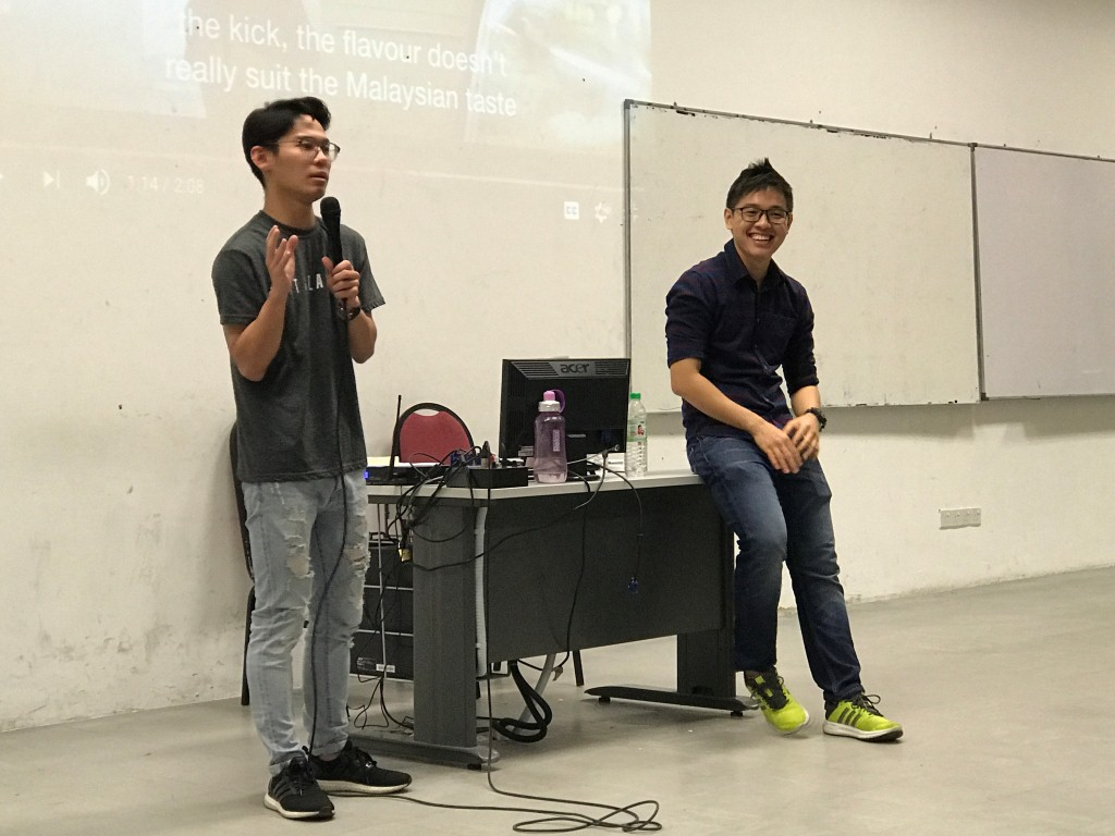 Aw and Tan during the sharing session