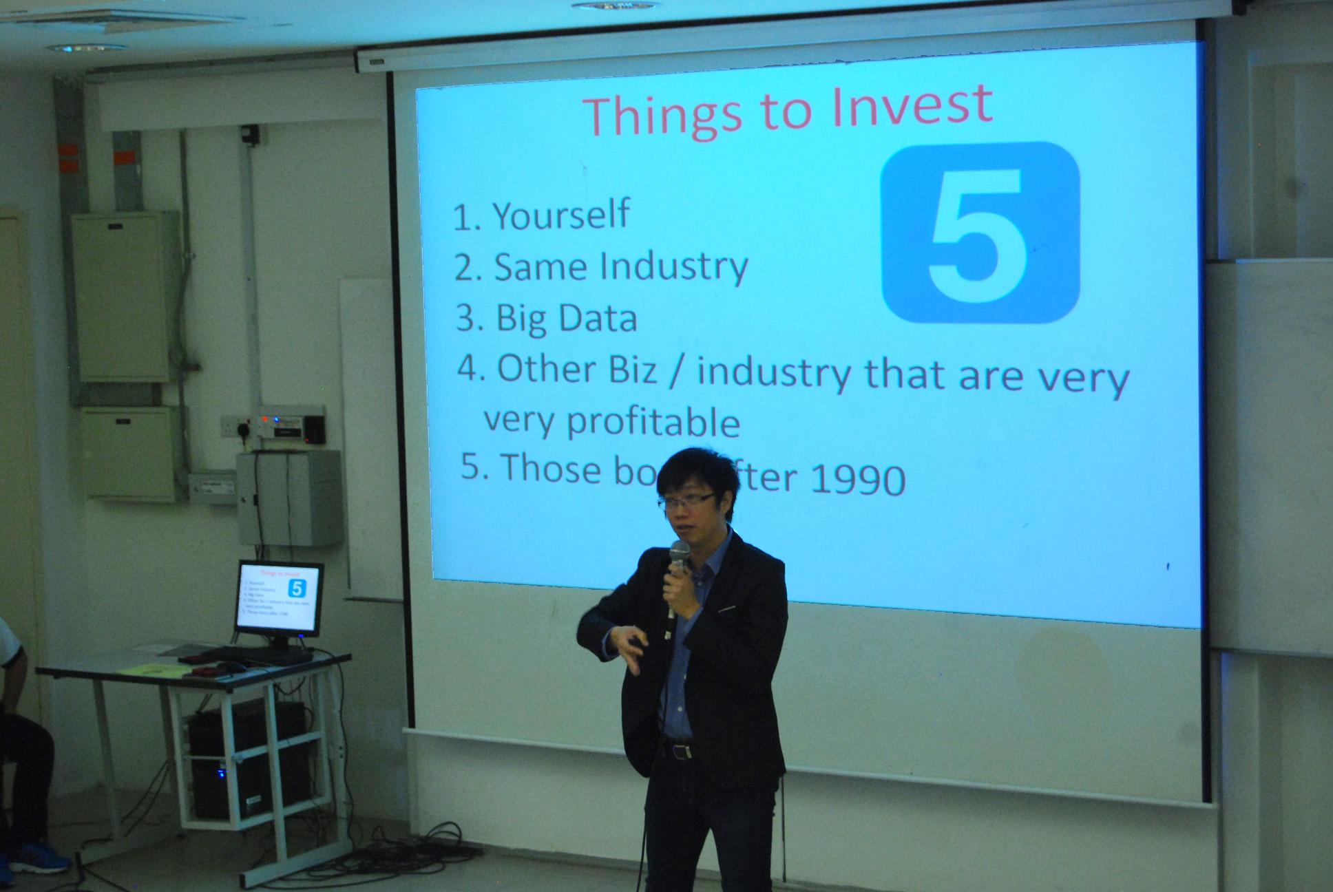 Jacky Cheng Hock Eu during the talk