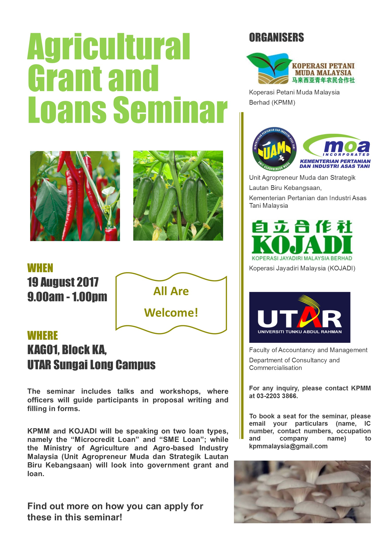 Agricultural Grant and Loan Seminar Poster