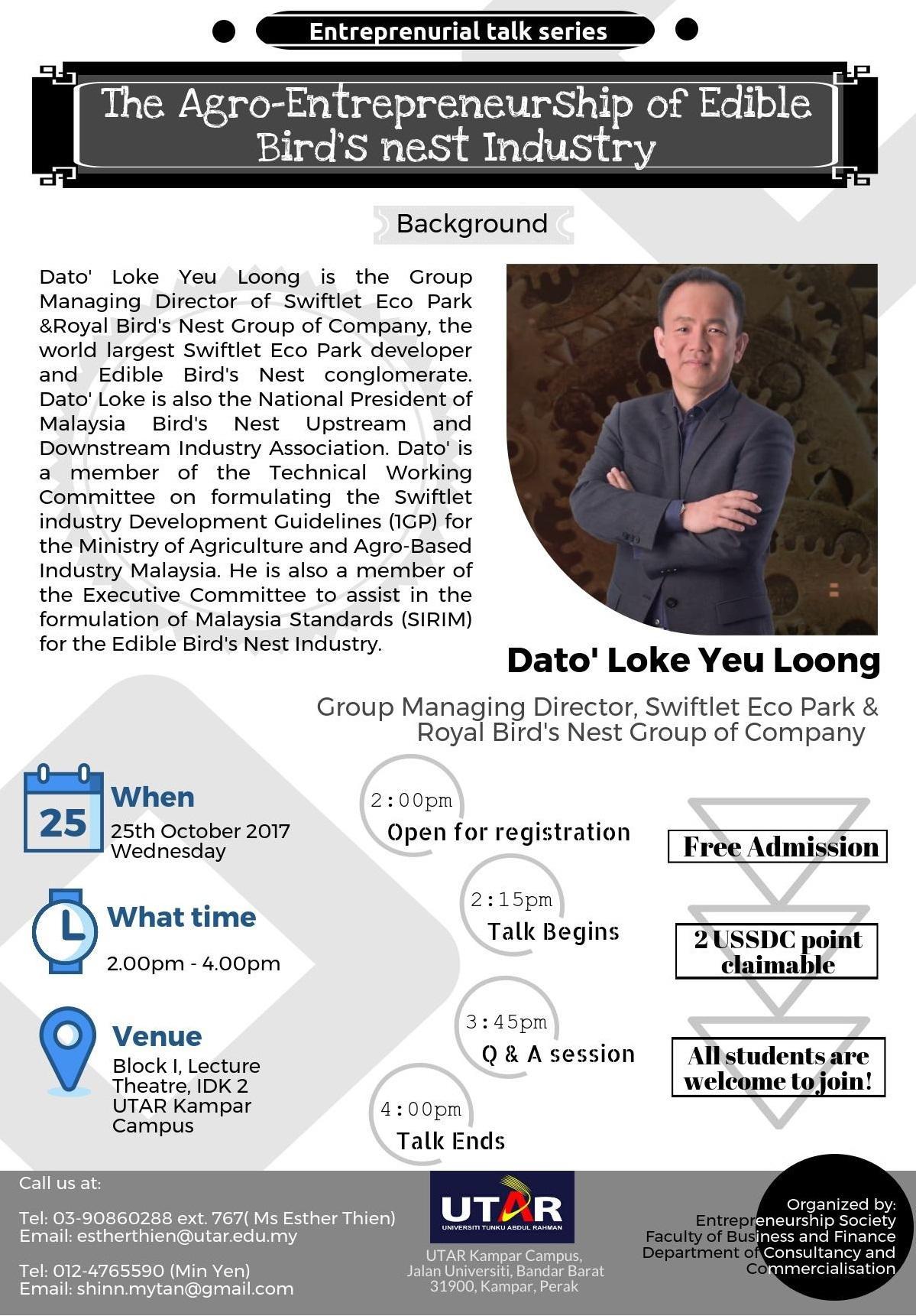 Dato Loke Talk Poster